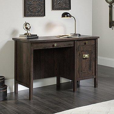 Sauder New Grange Home Office Desk in Coffee Oak