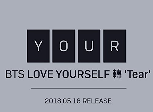 BigHit BTS - LOVE YOURSELF 轉 Tear [Y+O+U+R ver. SET] (Vol.3) 4CD+Photobook+Mini Book+Photocard+Standing Photo+4Folded Poster+Extra Photo 10pcs+Kpop Mask Pink Coffee Photo