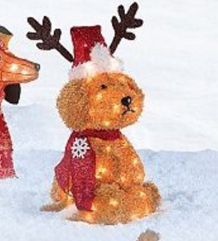 lighted goldendoodle outdoor christmas decoration 27 tall - Goldendoodle Christmas Decorations