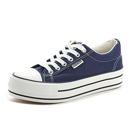 los de Verano de Bajo pesados ayudar zapatos zapatos del de plataforma deportes C fondo a para lona de los cordón Txwrq7gTnA