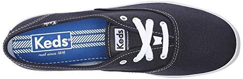 Keds Women's Champion Original Canvas Lace-Up Sneaker, Navy, 6 XW US