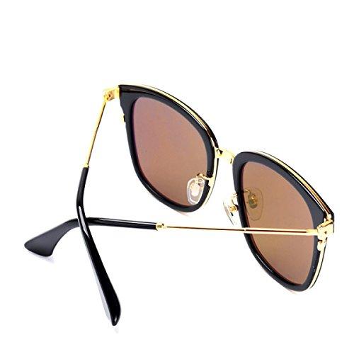 Wkaijc Männer Und Frauen Große Kiste Farbfilm Hohe Qualität Mode Trends Jurte Sonnenbrillen Sonnenbrillen ,A