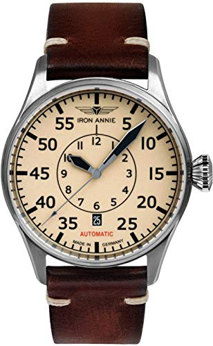 Iron annie Cockpit Mens Analog Automatic Watch with Leather Bracelet 5156-5 ()