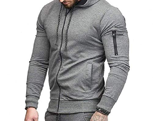 Dark Solid Athletic Grey Zip Men Fitted Jacket with XINHEO Hoodie Outwear aPzqxS
