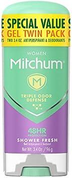 2-Pack Mitchum 3.4oz. Women Gel Antiperspirant Deodorant