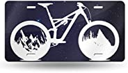 Nature Cycling Car Tag Decorative Front Plate 6 X 12 Aluminum Metal,Novelty License Plate Car Vehicle License