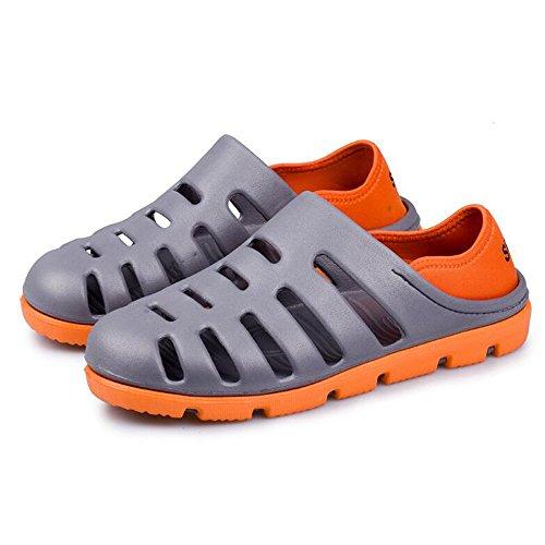 DULEE - Zapatillas de estar por casa de goma eva para hombre gris