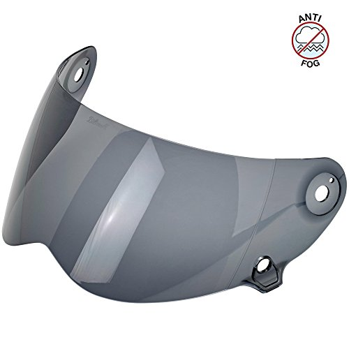 Biltwell Unisex-Adult (AF-SMK-LS-SD) Lane Splitter Shield-Smoke Anti-Fog, One Size)