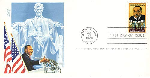 (Martin Luther King Jr - Abraham Lincoln Statue - FDC)