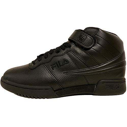 Fila Men's F13 Nubuck Shoes,Triple Black Leather,13 M US ()