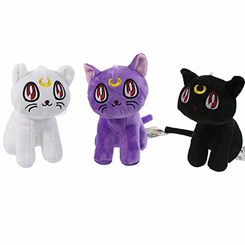 3 style Colors Anime Cats Cute Plush Toy Soft Stuffed Dolls 17 CM for Kids Birthday
