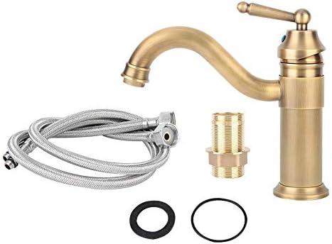360 /° drehbarer Auslauf Warm- und Kaltmessing-Wasserhahn mit Wasser-Sprudler G3//8 Wasserhahn Vintage-Einhebel-Mischbatterie im europ/äischen Stil
