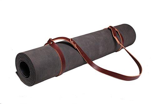 Fyxation Leather Yoga Mat Holder, Brown (Leather Yoga Mat Bag)