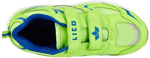 Lico Bob V - Zapatillas deportivas para interior de material sintético infantil Verde (lemon/blau)