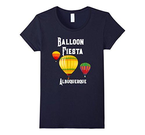 Womens Hot Air Balloon Shirt Funny Humors Basket Tee Shirts Large Navy