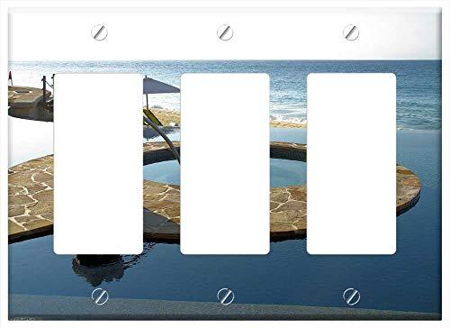 Switch Plate Triple Rocker/GFCI - Cabo San Lucas Mexico Sea Resort Swimming Pool 1