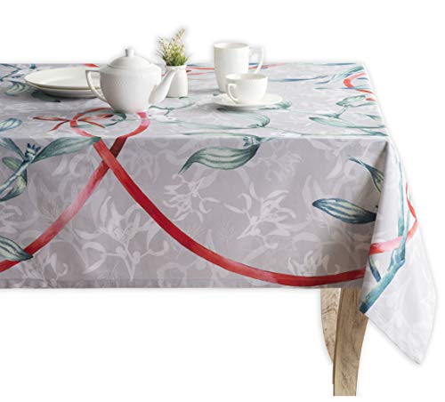 Maison d Hermine Enora 100% Cotton Tablecloth 60 Inch by 90 Inch. Perfect for Thanksgiving and Christmas
