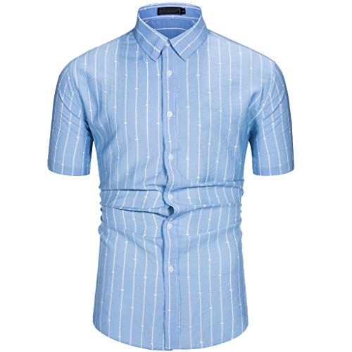 Toimothcn Aloha Shirt Men's Tropical Printed Short Sleeve Button up Hawaiian -