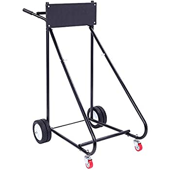 BCP 315lb Outboard Boat Trolling Motor Stand Carrier Dolly Storage Heavy Duty