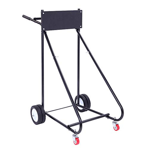 TUFFIOM Outboard Boat Motor Stand, Engine Carrier Cart Dolly for Storage, 315lbs Weight Capacity, w/Wheels (Dolly Outboard)