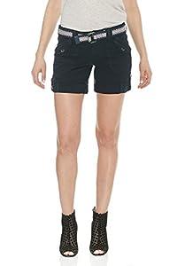 Suko Women's Cargo Bermuda Shorts Adjustable Length with Belt- Size 2-22 Plus