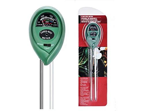 Soil PH Meter Soil Moisture Sensor 3-in-1 Soil Moisture/Light/pH Test Kit for Indoor/Outdoor Plants Care(No Battery Needed) by Hathdia