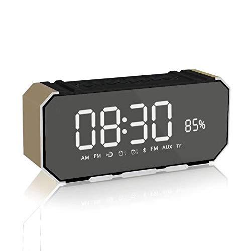 xingganglengyin Mirror Bluetooth Speaker Portable Multifunction Sound Blaster with Alarm Clock Insert U Disk Dual Speaker Subwoofer l Bluetooth Speaker by xingganglengyin (Image #1)