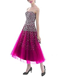 Short Dress With Rhinestones Gown