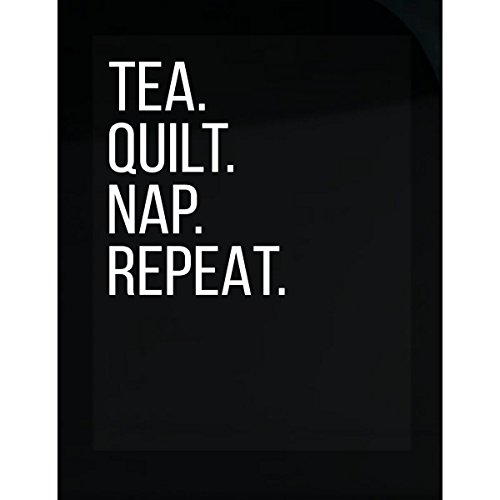 Tea Quilt Nap Repeat Funny Quilting Lover Birthday Gift - Sticker
