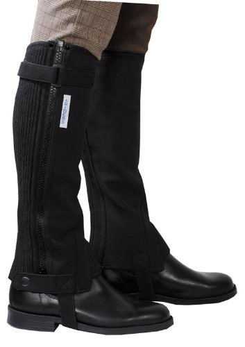 Corto Botas de montar | Mini Chaps | pierna caballo equitación Chaps/reitletten negro