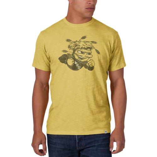 '47 Wichita State Shockers Brand Yellow Black Big Mascot Logo Scrum T-Shirt ()