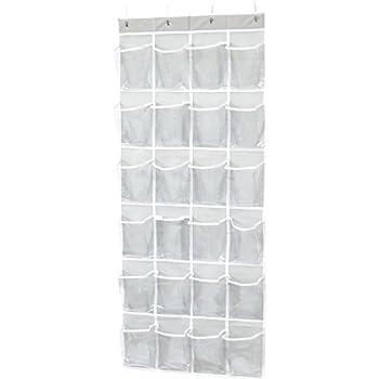 Door Hanging Shoe Rack.Amazon Com Amazonbasics 24 Pocket Over The Door Hanging