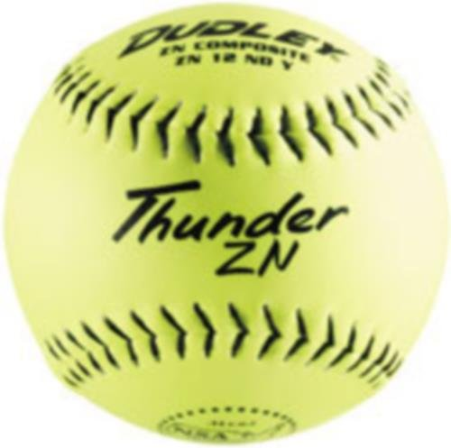 Dudley NSA Thunder ZN Slow Pitch Softball - 12 pack (Nsa Softball)