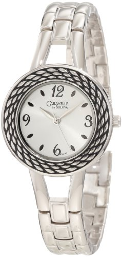 Caravelle by Bulova Women's 43L143 Rope Antiqued Pattern on Bezel Watch