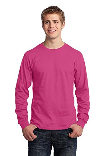 3aeb75866464 Image Unavailable. Image not available for. Color: Port & Company - Long  Sleeve Core Cotton Tee.