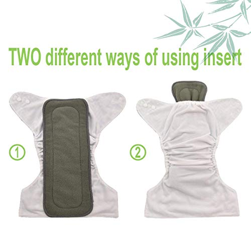 Ineffable Combo of Baby Cloth Diaper Nappies with 5 Layered Baby Insert Pads (Set of 2,Multi- Colour) (Assorted Colours)