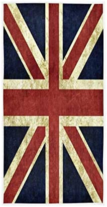 N\\ A Hand Towels Vintage Union Jack British Flag Retro Bathroom Towel Soft Highly Absorbent Small Bath Towel Kitchen Dish Wash Guest Towel Hotel Bathroom Decorative Women Men 28in X 16in