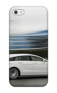 Flexible Tpu Back Case Cover For Iphone 5/5s - 2012 Mercedesbenz Cls Shooting Brake 250 Cdi White Speed Side Benz Cars Mercedes