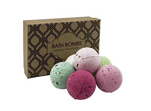 Luxury Bath Bombs Gift Set | Explode Fantasies with Lavender, Rose, Coconut, Green Tea, Ginger and Hibiscus Bath Bombs | Fizzy Bombs from Beautyfrizz | Bubble Bath Bombs for Destress and Relaxation