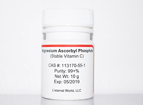 Antioxidant Magnesium Vitamins - Magnesium Ascorbyl Phosphate (MAP) Powder, Stable Vitamin C, 10 g, Anti-oxidant, Skin Whitener, Lightener