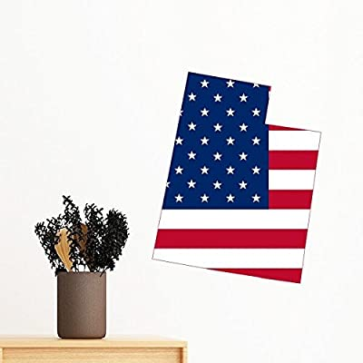 The United States Of America USA Utah Map Stars And Stripes Flag Shape Removable Wall Sticker Art Decals Mural DIY Wallpaper for Room Decal