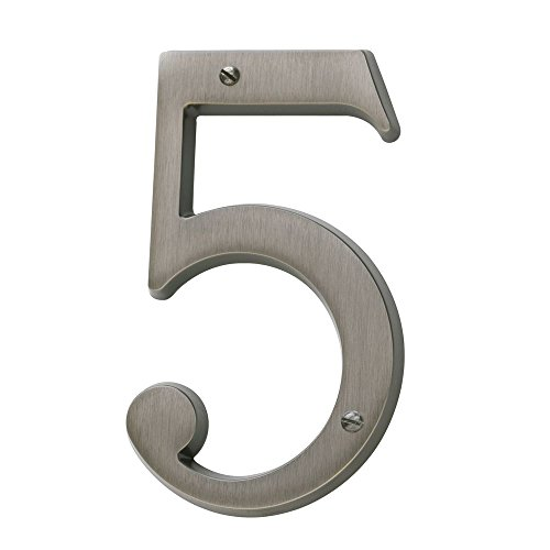 Baldwin 90675151  5 House Number Antique Nickel
