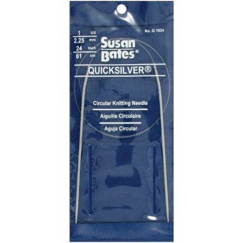 (Susan Bates 24-Inch Quicksilver Circular Knitting Needle, 2.25mm)