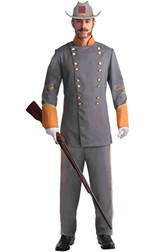 [Mememall Fashion Civil War Military Confederate Officer Adult Costume (XL)] (Han Solo Costume Girl)