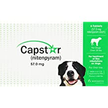 Novartis Capstar Flea Tablets for Dogs, 6 Count, Over 25 lbs, Green