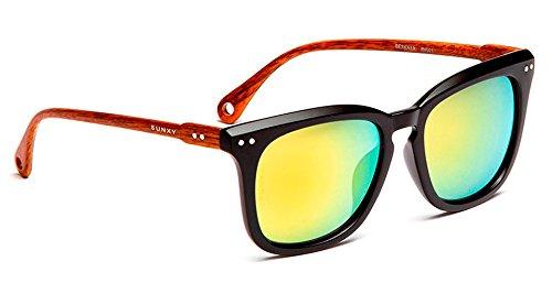 17a972ce17 SUNXY - Gafas De Sol Con Lentes Espejo Berkner Rv001, Unisex, Color Negro:  Amazon.es: Ropa y accesorios