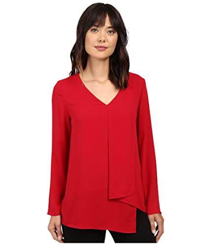 karen-kane-long-sleeve-draped-angle-top-red-womens-clothing