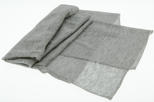 JD Love Women's Silk and Cashmere Scarf 76''X 20'' Grey by Wet Brush (Image #4)