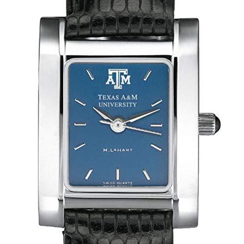 M. LA HART Texas A&M Women's Blue Quad Watch with Leather Strap