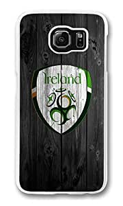 Samsung Galaxy S6 Case, Hard Crystal Clear Transparent Plastic Bumper Case for Samsung Galaxy S6 with Back Photo Wood Ireland